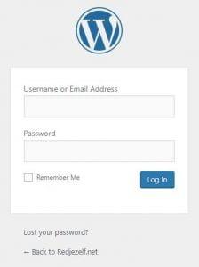 Wordpress logo login pagina veranderen